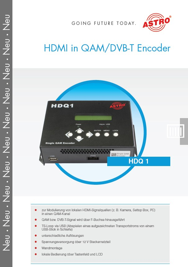 HDQ 1 - HDMI in QAM/DVB-T Encoder