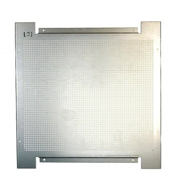 perforated metal plate for wall mounting 800 x 800 mm zinc-coated steel