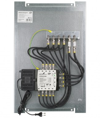 Multi-switch on perforated plate for 8 participants, pre-assembled, saves time and money