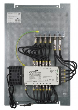 Multi-switch on perforated plate for 12 participants, pre-assembled, saves time and money